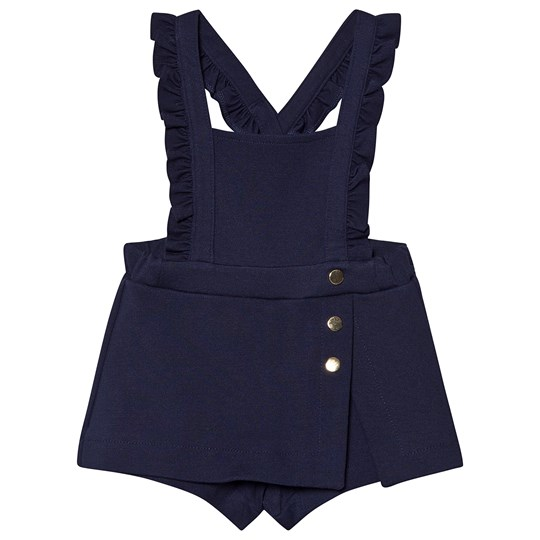 Mayoral Navy Frill & Button Detail Pinafore Skorts 59