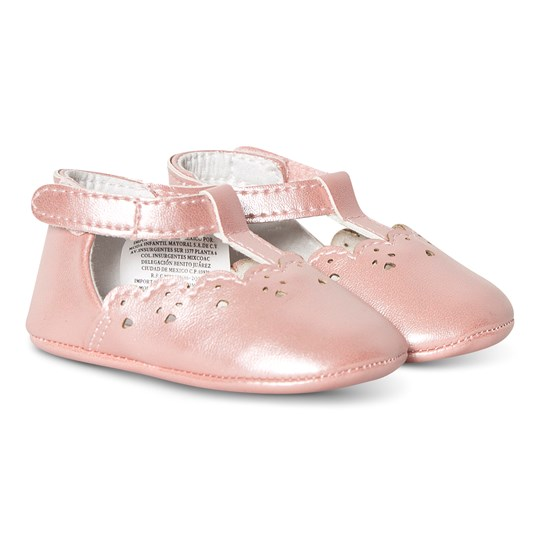 Mayoral Pink T-Bar Crib Shoes 20