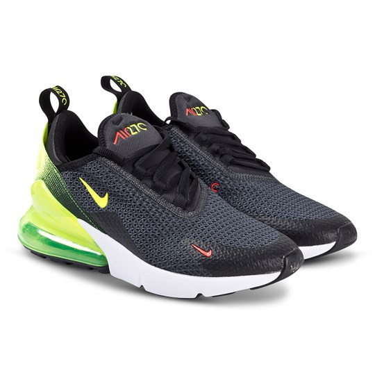 NIKE Black Neon Nike Air Max 270 Trainers 001