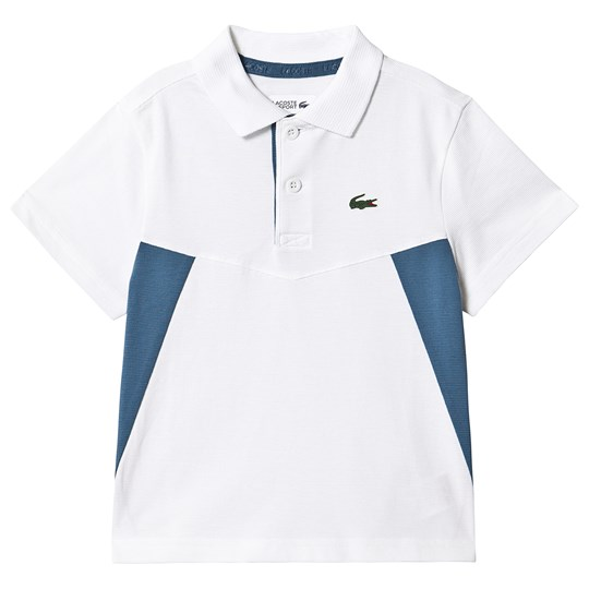 Lacoste Super Light Pikétröja Vit/Blå 96X