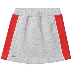 Lacoste Grey Jersey Skirt with Red Side Panelling