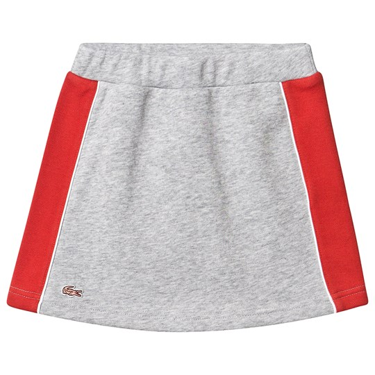 Lacoste Grey Jersey Skirt with Red Side Panelling CCA
