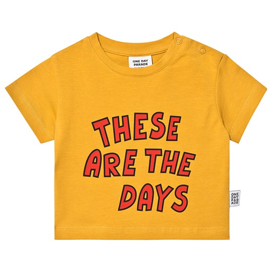 One Day Parade These Are The Days T-Shirt Yellow THESE ARE THE DAYS