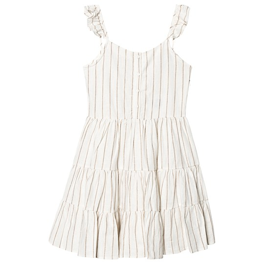 Mayoral Strappy Striped Dress Toasted 94