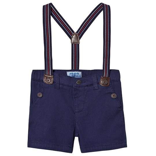 Mayoral Navy Chino Shorts with Braces 10