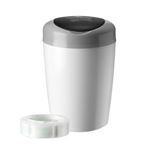 Image of Tommee Tippee Simplee Sangenic Diaper Disposal Grey/White One Size (977639)
