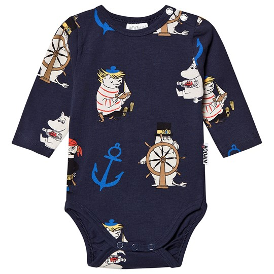 Mumin Anchor Baby Body Navy Dark Blue
