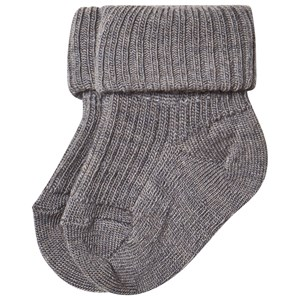 Image of MP Ankle Wool Rib Turndown Grey Melange 000 (15/16) (463773)