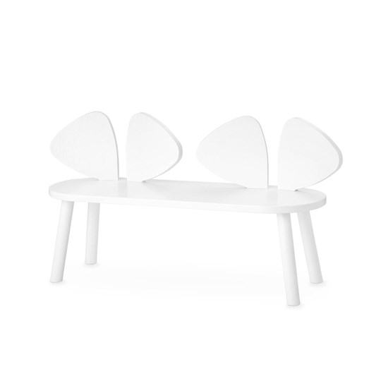 Nofred Mouse Bench White White