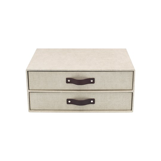 Bigso Box of Sweden Birger Byrå med 2 Lådor Canvas Beige Beige