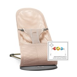 Babybjörn Bliss Bouncer Pearly Pink 3D Mesh + Toy For Flying Friends