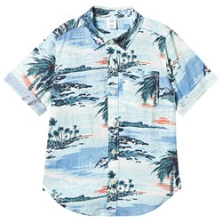 GAP Palm Print Shirt Blue