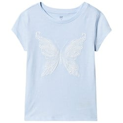 GAP Butterfly Tee Cerulean Blue