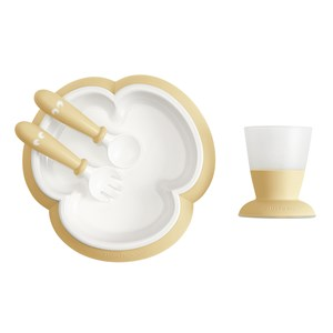 Image of Babybjörn Baby Feeding Set Powder Yellow One Size (1335207)