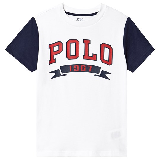 Ralph Lauren White and Navy POLO Tee 001