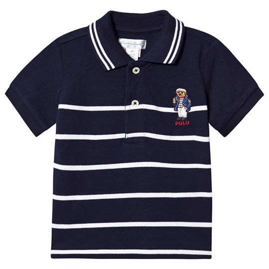 Ralph Lauren Captain Bear Cotton Mesh Pikétröja Marinblå 001