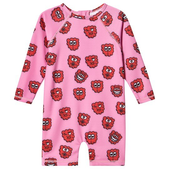Hugo Loves Tiki Rash Guard UV Suit in Pink Raspberry Pink Raspberry