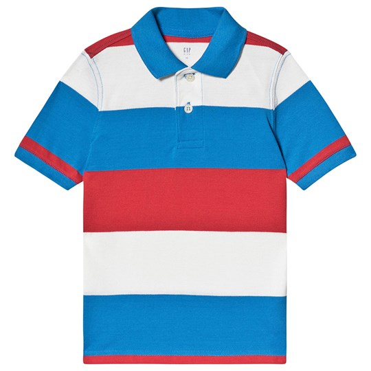 GAP Striped Polo Navy and Red Navy Red Stripe