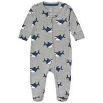 6ce3ff15f8ed Gap Shark Footed Baby Body Ljusgrå B10 GREY HEATHER
