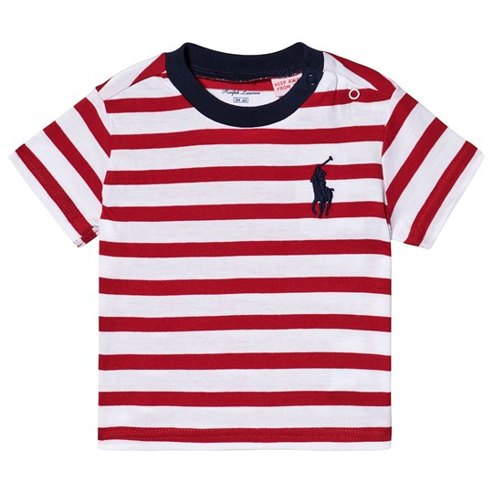 Ralph Lauren Striped Tee Red 001