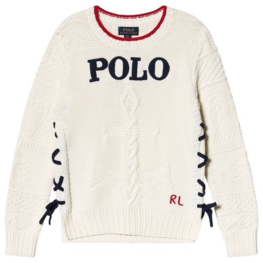 Ralph Lauren Tie Sweater White 001