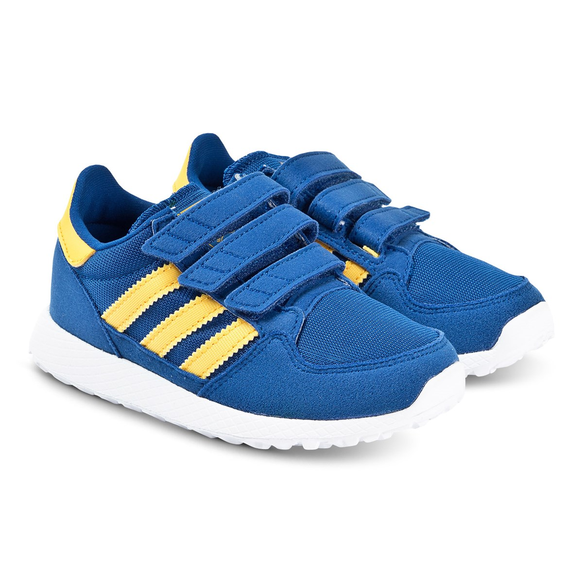 adidas Originals - Royal Blue and Yellow Forest Grove 3V Trainers ...