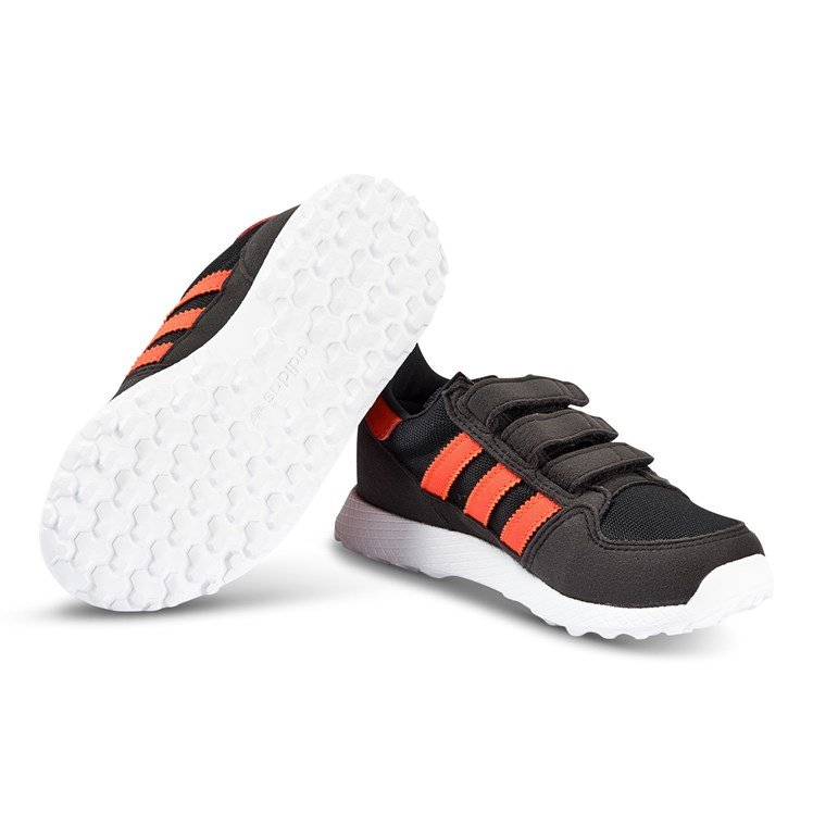 adidas Originals Black and Orange Forest Grove 3V Trainers