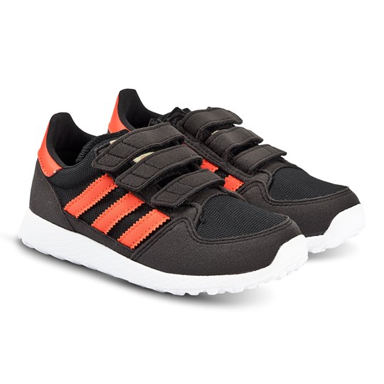 adidas Originals Black and Orange Forest Grove 3V Trainers core black/active orange/easy yellow