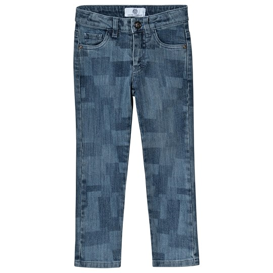 Versace Printed Jeans Blue Blue