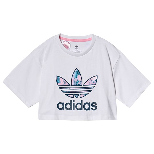 adidas Originals Multi Branded Crop Tee WHITE/MULTICOLOR
