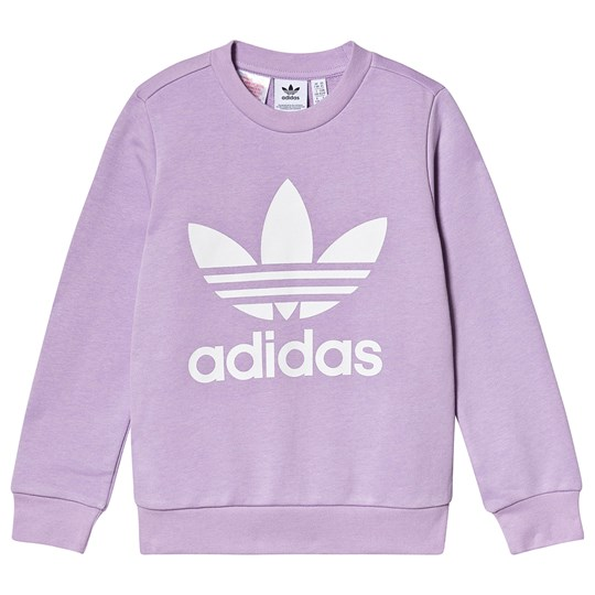 adidas Originals Logo Sweatshirt Lilla purple glow/white