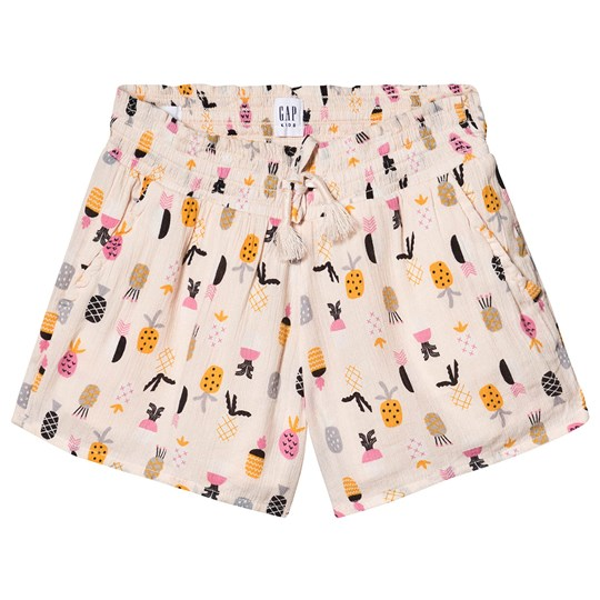 GAP Smocked Shorts Pineapple Pineapple