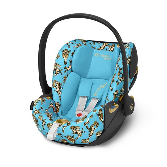 Cybex Cloud Z i-Size Infant Carrier in Jeremy Scott/Cherub Blue Blue