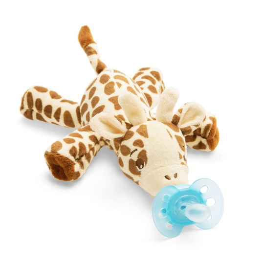 Philips Avent Snuggle - Plush toy with UltraSoft soother, Giraffe Light brown