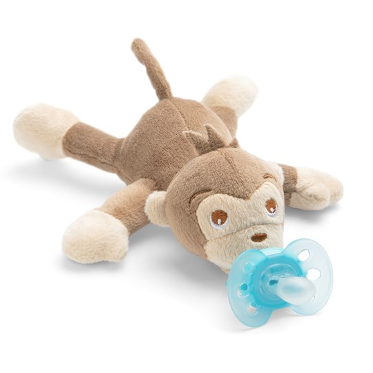 Philips Avent Snuggle - Plush toy with UltraSoft soother, Monkey Light brown