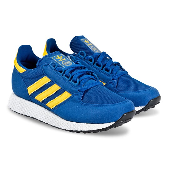 adidas Originals Royal Blue and Yellow Forest Grove Trainers collegiate royal/bold gold/blue