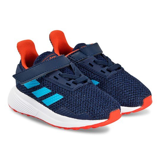 adidas Performance Navy and Orange Duramo 9 Velcro Trainers dark blue/shock cyan/legend ink