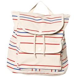 Tinycottons Retro Lines Backpack Cream/Red/Ultramarine