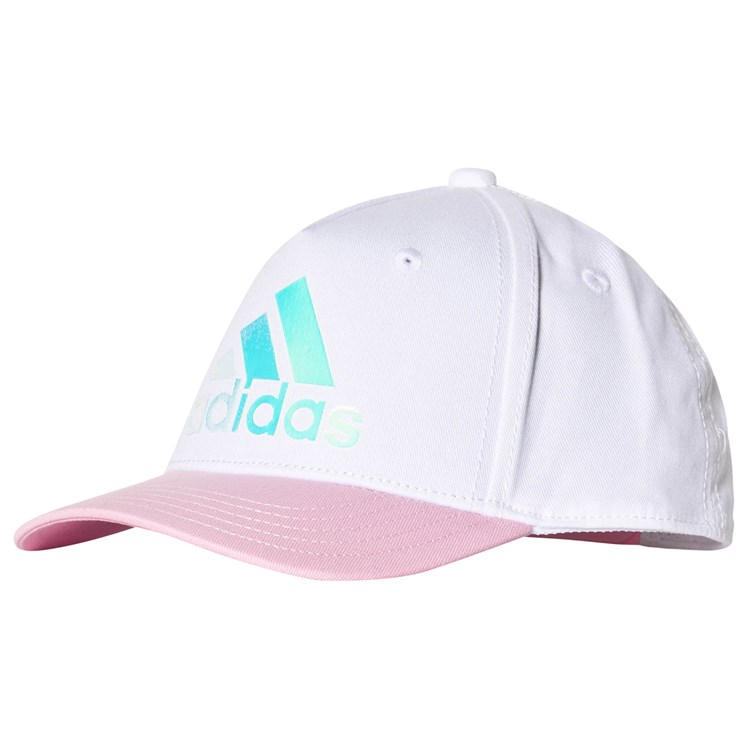 adidas Performance White and Pink Holographic Cap