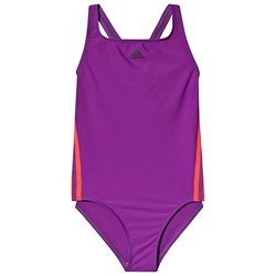 adidas Performance Athly V 3-Stripes Swimsuit Purple/Shock Red