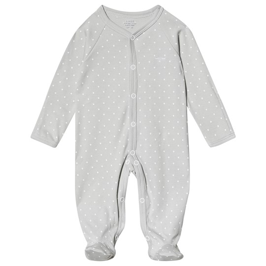Livly Saturday Simplicity Footed Baby Body Grå/Vit grey/white dots