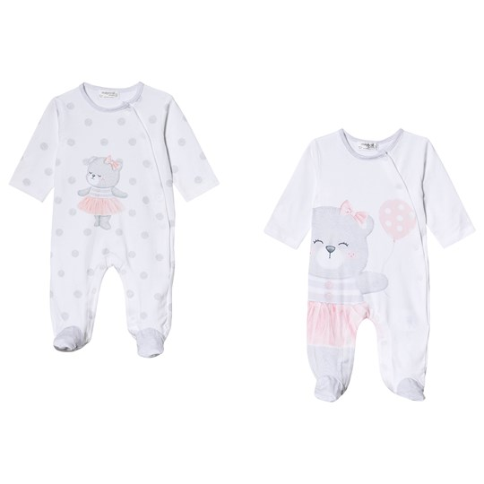 Mayoral White Printed 2 Pack Footed Baby Body 10