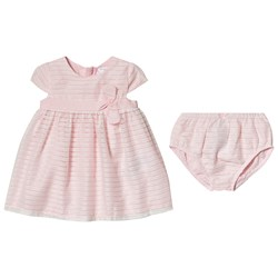 Mayoral Pink Bow Detail Dress and Bloomers Set