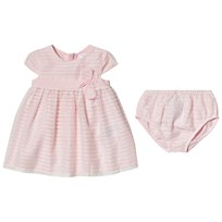 2c6d550a0ee Mayoral Pink Bow Detail Dress and Bloomers Set 74