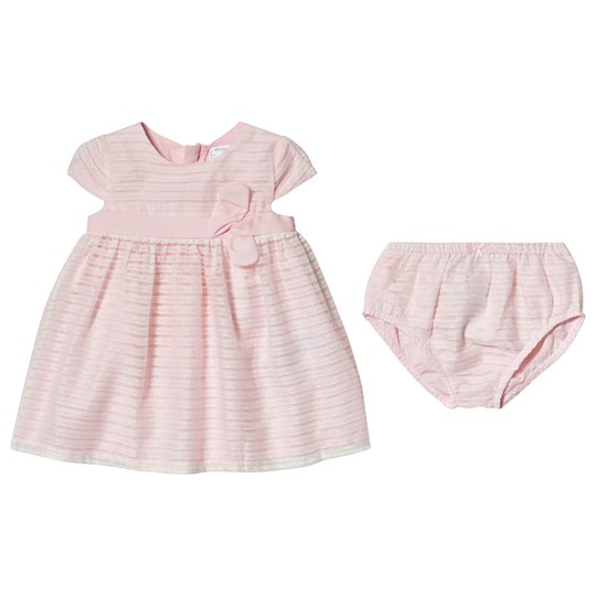 Mayoral Pink Bow Detail Dress and Bloomers Set 74