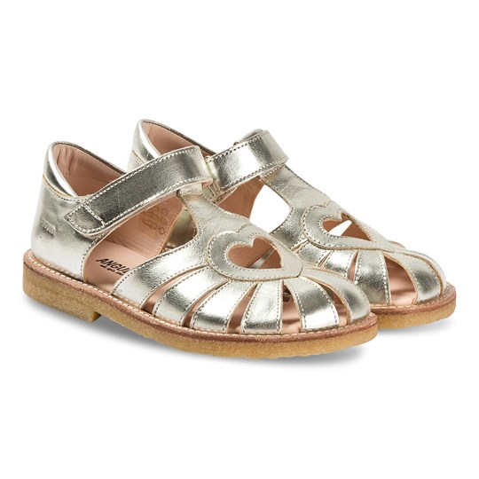 Angulus Gold Heart Cut Out Sandals 1325