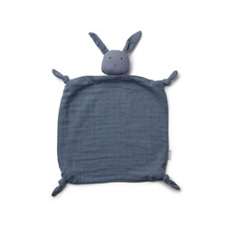 Liewood Agnete Rabbit Cuddle Blanket Blue Wave