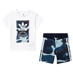 adidas Originals Multi Camo Logo T-Shirt og Shorts