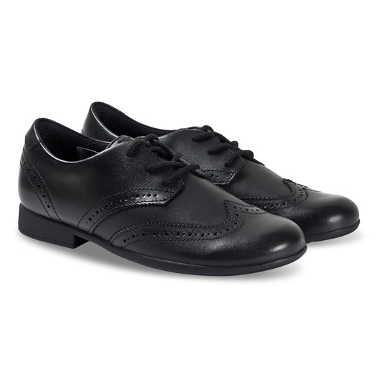Clarks Scala Lace Brogues Black Leather Black Leather