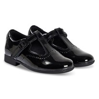0931e198fcf Clarks Scala Seek T-Bar Shoes Black Patent Black Pat
